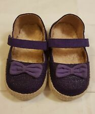 UGG Baby sheep wool lined purple shoes with strap size UK 4 Euro 20.5