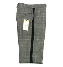 Thom Browne Men's Pants Size 32 / 1 Black & White Houndstooth Heavy Wool - New