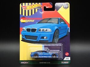 2021 HOT WHEELS PREMIUM CAR CULTURE DEUTSCHLAND DESIGN BMW M3 E46 1/5 CASE C