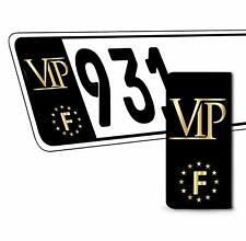 2 x Vinyle Plaque D'Immatriculation Adhésif VIP UE Européen Badge France QV 31
