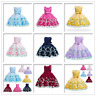 flower baby girl dress formal bridesmaid kid party wedding princess tutu Dresses