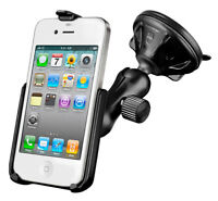 RAM Mount Car Windshield / Dash Suction Cup Mount with Cradle for iPhone 4 / 4S