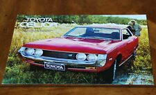 Toyota Celica 1600ST (A20) series 1 leaflet Prospekt, 1971 (German/French text)