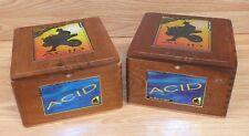 Lot of 2 Kuba Kuba Remi Acid Cigars By Drew Estate Collectible Wooden Box Only