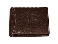 Hochwertig Leder Geldbörse Brieftasche Portemonaie 9x12cm in Braun  W2B