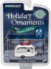 GREENLIGHT  AIRSTREAM 16' BAMBI 1/64 CHRISTMAS HOLIDAY ORNAMENT CHROME 29916