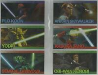 """Star Wars Clone Wars Widevision - """"Foil Character"""" Set of 20 Chase Cards #1-20"""