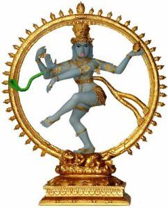 "Nataraja Shiva Statue 10.5"" Lord Siva dancing the Eternal Cosmic Dance (K37N)"