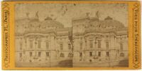Francia Opera Garnier Parigi c1870 Foto P.L.Stereo Albumina Vintage