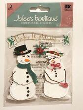 SNOW PEOPLE & MISTLETOE JOLEE'S BOUTIQUE DIMENSIONAL STICKERS WINTER CHRISTMAS