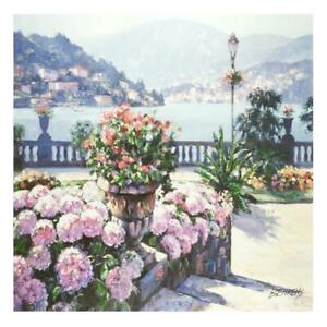 "Howard Behrens""On Lake Como"" Giclee/Canvas Signed  Limited Edition"