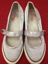 Replay - scarpe ballerine con zeppa - colore argento - con suola bianca - USATE