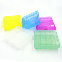 1/5/10Pcs Plastic Translucent Case Holder Storage Boxes for AA AAA Battery PTCA