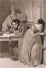 Gravure XIXe Journaliste Journalisme Presse Révolution Française 1843