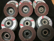 """30pc MIXED 4.5"""" 4-1/2"""" FLAP DISCS ANGLE GRINDER WHEELS 36 40 60 80 120 180 GRIT"""