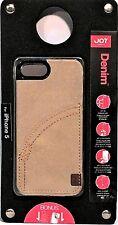 NEW Joy Factory Apple iPhone 5 PREMIUM KHAKI DENIM HARD CASE w/ Screen Protector