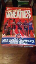 EMPTY 1989 Wheaties Detroit Pistons NBA Champs EX