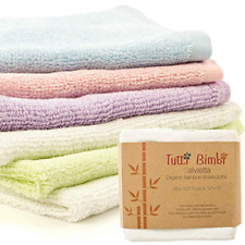 ORGANIC Bamboo Baby Washcloth Flannels - 6 Pack