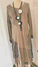 Lagenlook Kekoo Gr.1 Kleid und Jacke grau Gr. 42-44