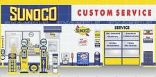 SUNOCO GAS STATION PUMPS SCENE WHOLE WALL MURAL SIGN BANNER GARAGE ART 8' X 16'