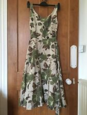 Laura Ashley Silk Blend Dress Size 8 Brand New With Tags