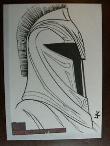 Star Wars Rise of the Bounty Hunters sketch card - SENATE GUARD by Jeff Confer
