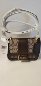 Coach 4616  Alie Shoulder Bag 18 In Sig. Jacquard, suede and leather NWT