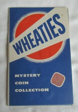 1950's COMPLETE WHEATIES MYSTERY COIN COLLECTION IN FOLDER 15 WORLD COINS