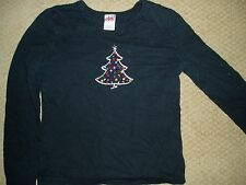 """Girl's, """"BEDAZZLED CHRISTMAS SHIRT"""", size 7/8, 100% cotton"""