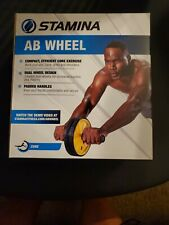 Ab Wheel Roller Exercise Crunch Workout Fitness Training Core Stamina