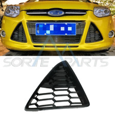 For 2012-2014 Ford Focus & RH Right Side Bumper Grille Bezel Cover HoneyComb