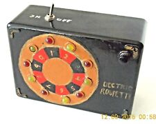ORIGINAL 1980's ERA INVENTOR'S PROTOTYPE ELECTRIC ROULETTE HAND - HELD GAME