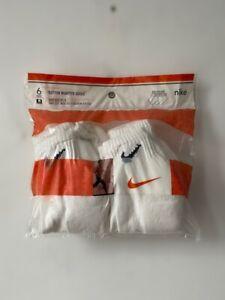 vintage nike cotton quarter socks 6-pack men's size 10-13 deadstock NIP 2000