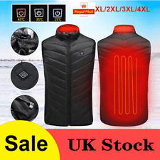 Electric Vest Heated Clothes Jacket USB Warm Up Heating Pad Winter Body Warmer~