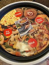 New listing Digital Electric Nonstick Griddle Pan Fry, Wok, Pizza Oven Open Box