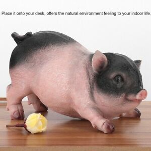 Pig Animals Figurines Resin Garden Patio Yard Lawn Ornament Statues Home Decor