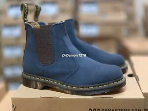 NIB Dr Martens Mens 2976 Chelsea Boot Ombre Blue Super Hi Suede WP 25099426