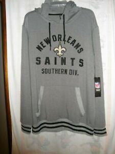 New Orleans Saints NFL Team Apparel Hooded Sweatshirt. Men's Size Large, NWT'S