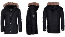 Geographical Norway hombre muy Cálido chaqueta de invierno Parka Outdoor negro 3XL