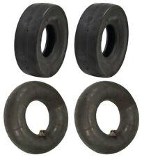 Set of 2 Slicks and 2 Tubes 4.10 x 3.50 - 5 Go-Kart Cart GoKart GoCart Tires