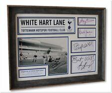 TOTTENHAM HOTSPUR Framed White Hart Lane Legends SIGNED Photo Display COA Mackay