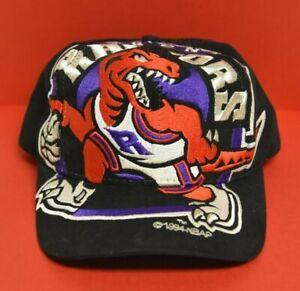 "TORONTO RAPTORS NBA  90'S ""VINTAGE"" ""The Game Big Logo Black Snapback Hat/Cap"""