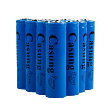 10PCS Deep Blue 18650 Rechargeable Battery 3000mah 3.7v Li-ion Battery