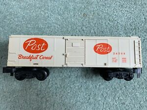 American Flyer #24058 Post Cereal Boxcar white plastic pikemaster 1960s
