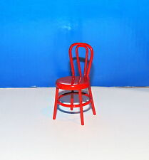 FOUR RED METAL CHAIR DOLLS MINIATURE  1:12 SCALE NEW !