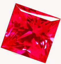 Nice 6 mm 1.25 cts Princess Cut Lab Created Ruby