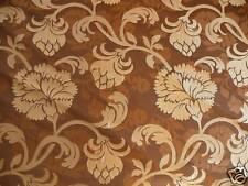 100%SILK SCROLL FLOWER GOLD BROWN COGNAC ART DECO BTY