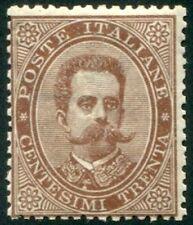 1879 Regno Umberto I 30 cent bruno nuovo spl MNH **