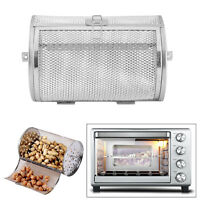 BBQ Grill Roaster Baking Rotary Grilled Cage Nuts Beans Electric Oven 120x180mm