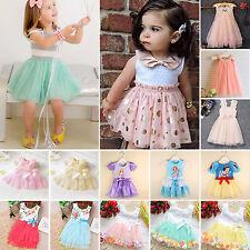 bambini piccoli Princess floreale tulle tutu vestiti estate festa matrimonio